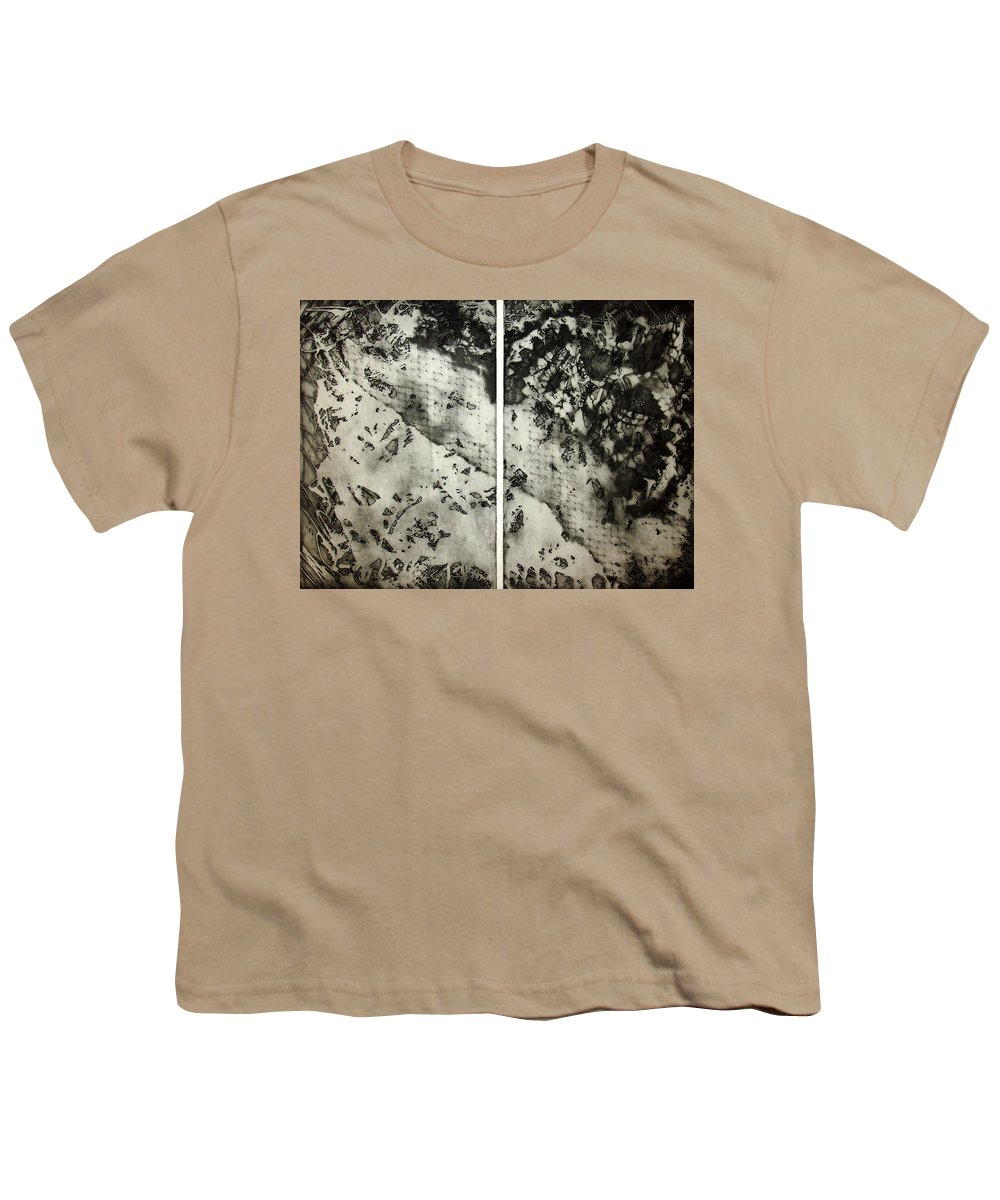 Etching Youth T-Shirt featuring the drawing Shadows And Lace by Nancy Mueller