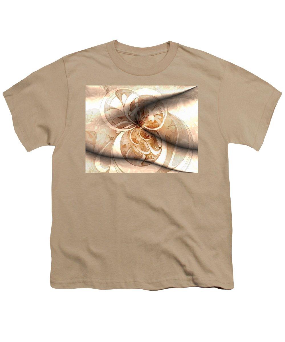 Digital Art Youth T-Shirt featuring the digital art Silk by Amanda Moore