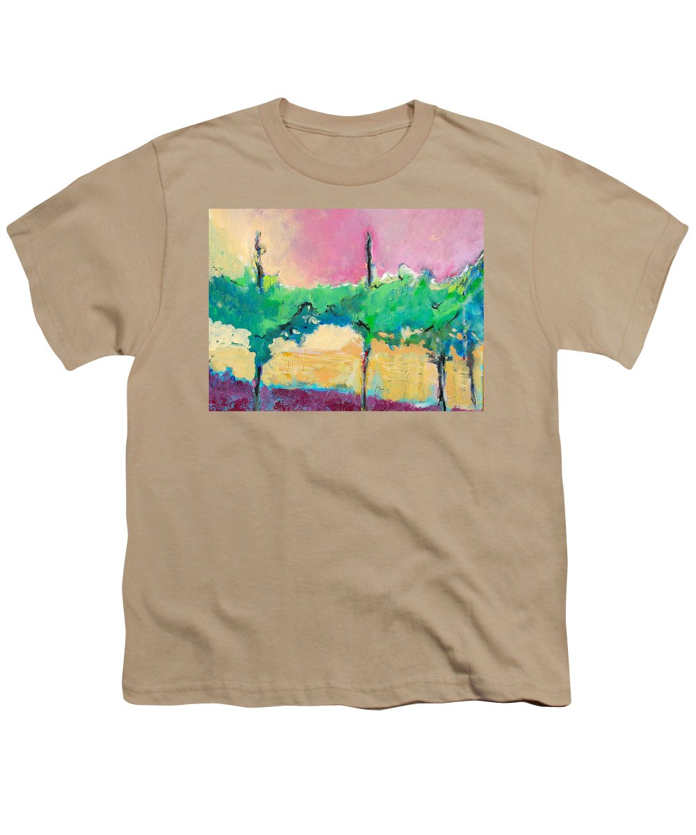 Vineyard Youth T-Shirt featuring the painting Simpatico by Kurt Hausmann
