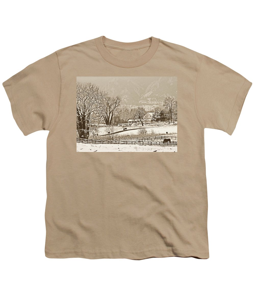Landscape Youth T-Shirt featuring the photograph Simpler Times by Marilyn Hunt