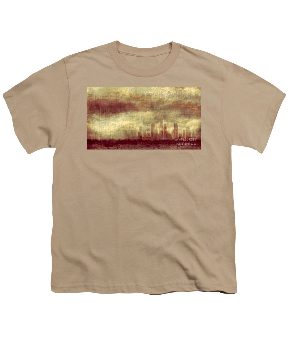 Clouds Youth T-Shirt featuring the photograph Someone To Hold You Beneath Darkened Sky by Dana DiPasquale