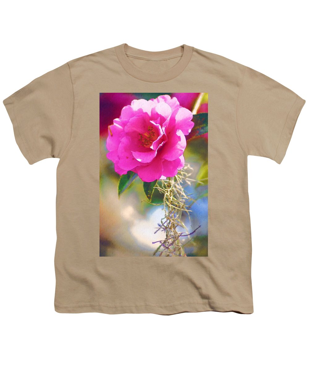Rose Youth T-Shirt featuring the digital art Southern Rose by Donna Bentley