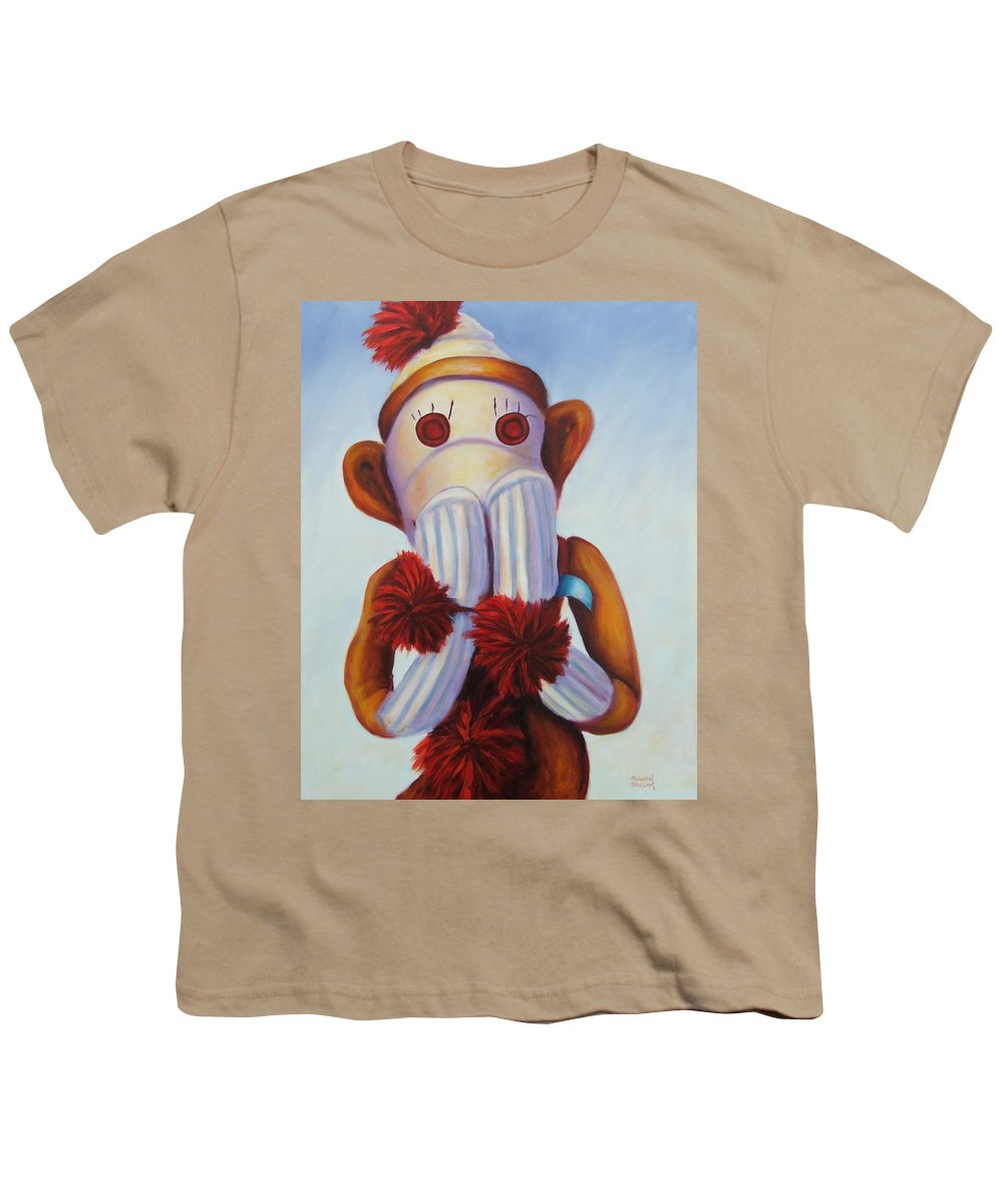Children Youth T-Shirt featuring the painting Speak No Bad Stuff by Shannon Grissom
