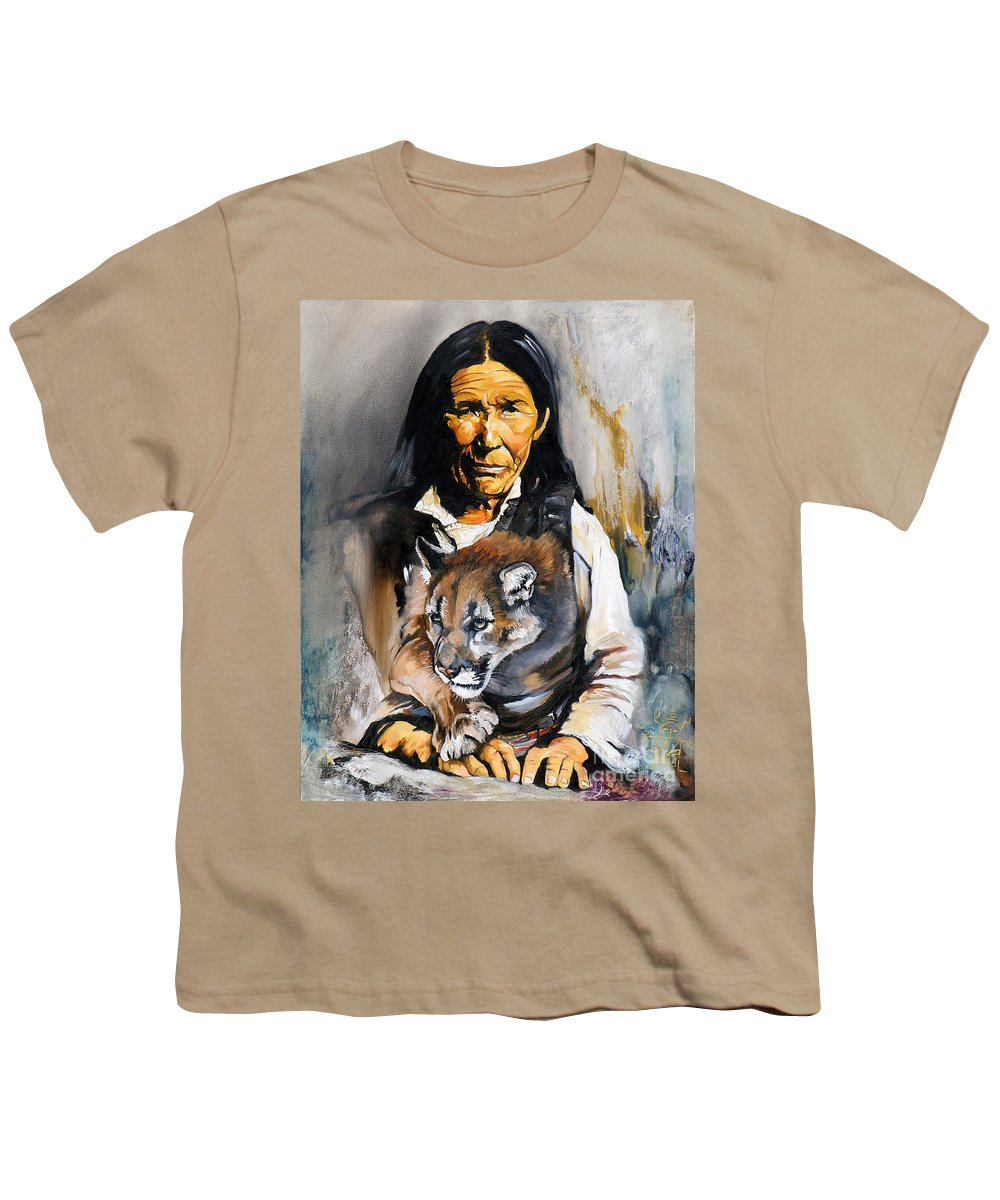 Spiritual Youth T-Shirt featuring the painting Spirit Within by J W Baker