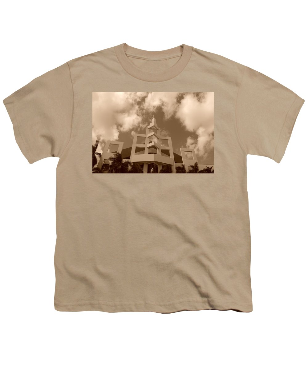 Architecture Youth T-Shirt featuring the photograph Squares In The Sky by Rob Hans