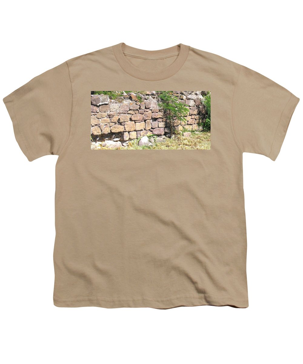 Stone Wall Youth T-Shirt featuring the photograph Stone Wall by Ian MacDonald