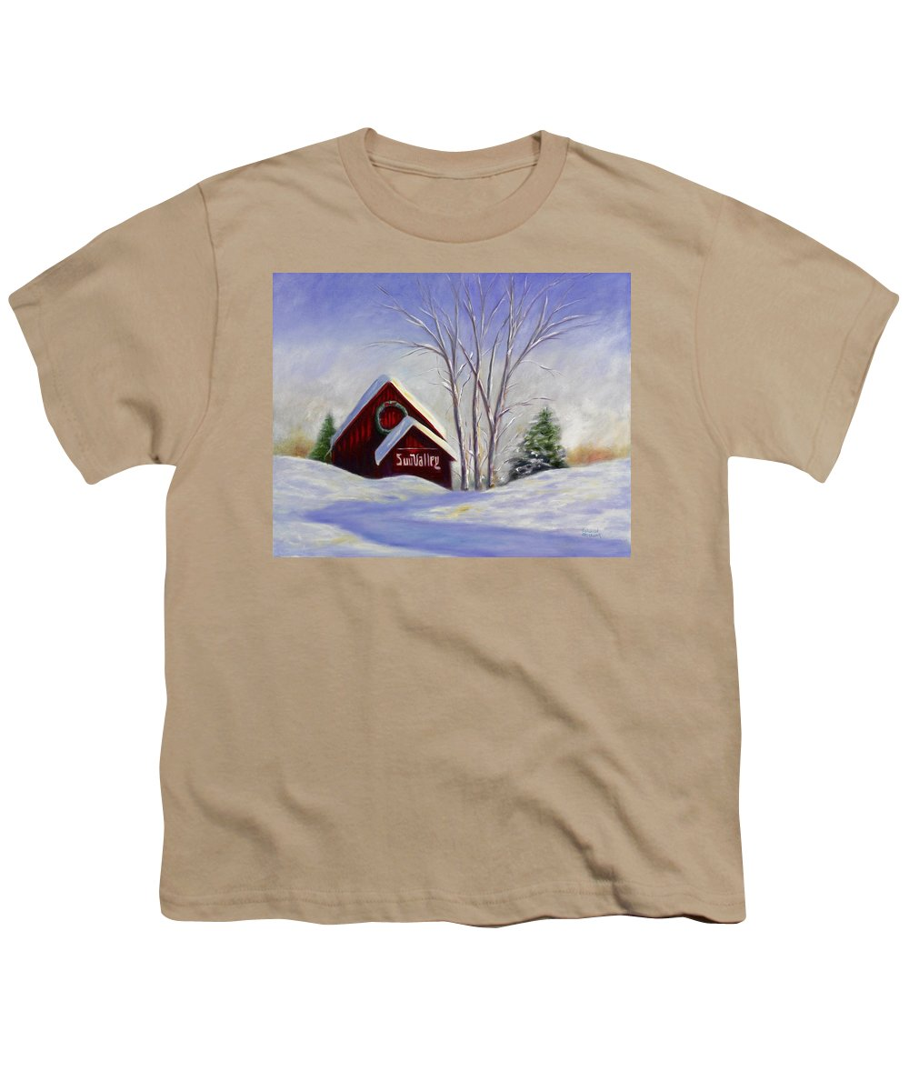 Landscape White Youth T-Shirt featuring the painting Sun Valley 1 by Shannon Grissom