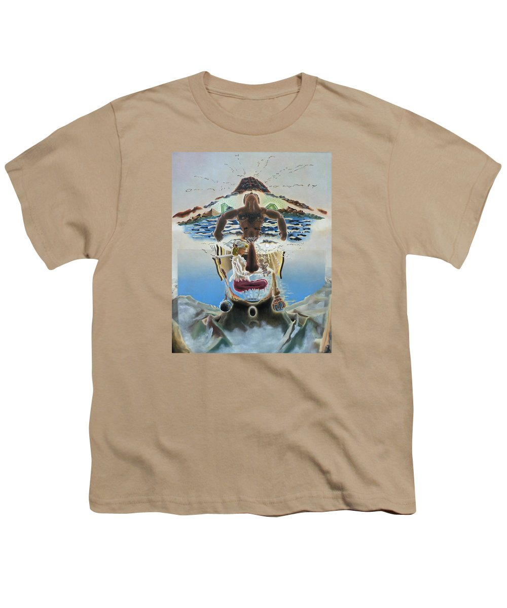 Surreal Youth T-Shirt featuring the painting Surreal Memories by Dave Martsolf