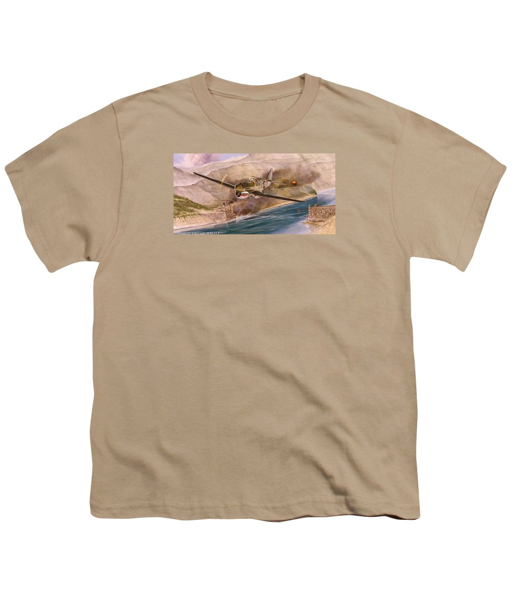Painting Youth T-Shirt featuring the painting Tex Hill Over The Salween Gorge by Marc Stewart