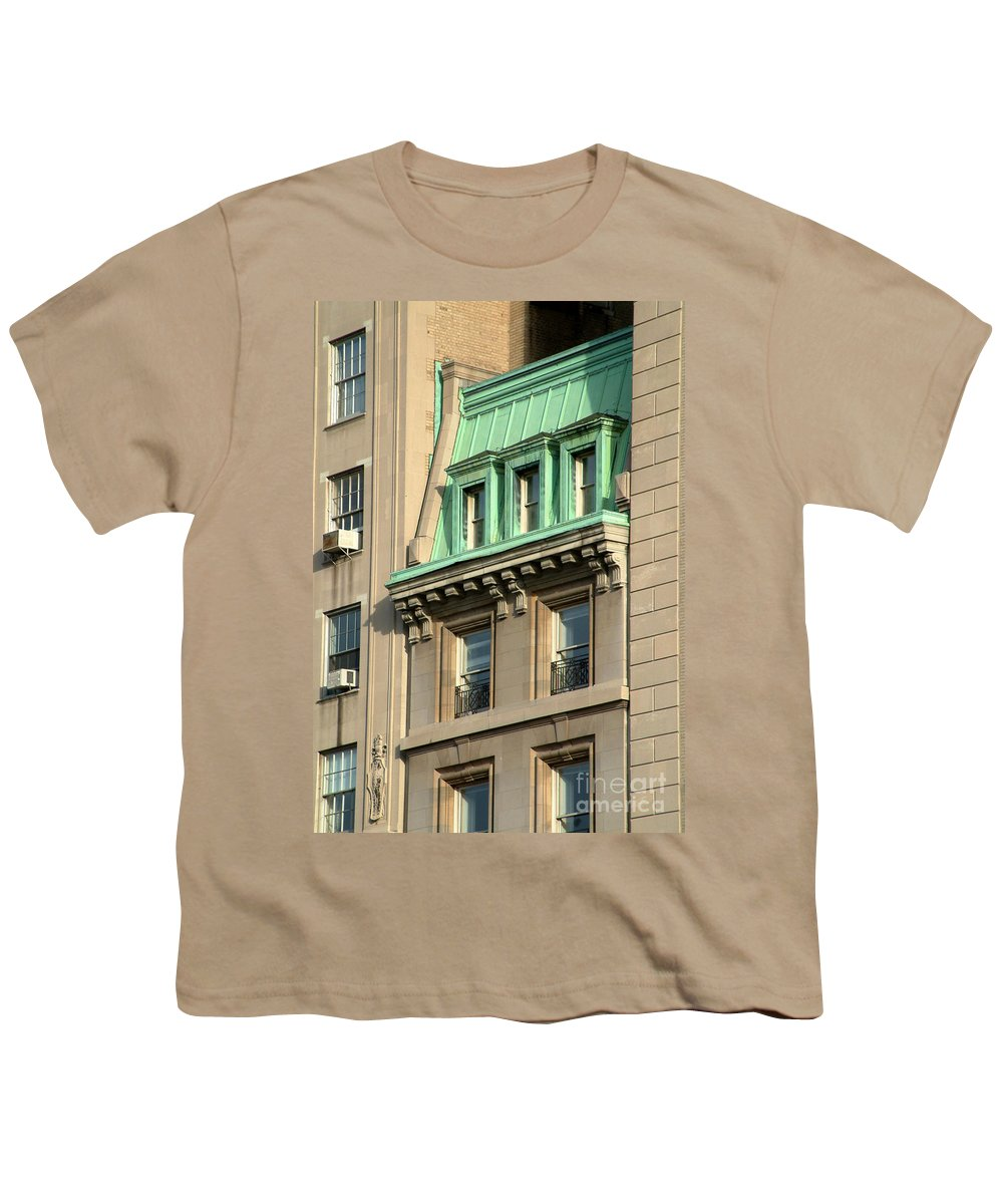 Apartments Youth T-Shirt featuring the photograph The Copper Attic by RC DeWinter