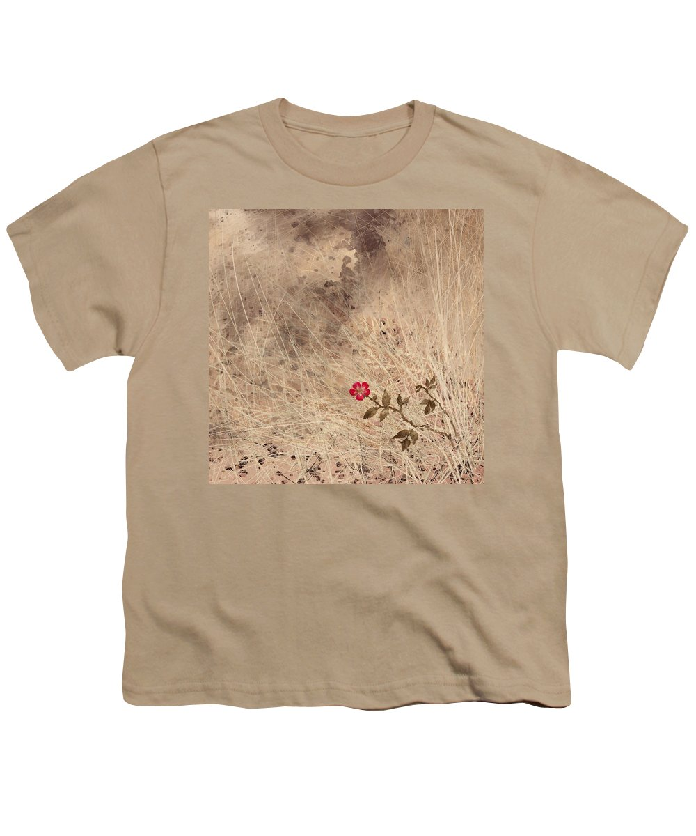 Abstract Youth T-Shirt featuring the digital art The Last Blossom by William Russell Nowicki