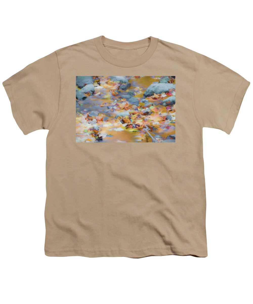 Abstracts Youth T-Shirt featuring the photograph The Lightness of Autumn by Marilyn Cornwell