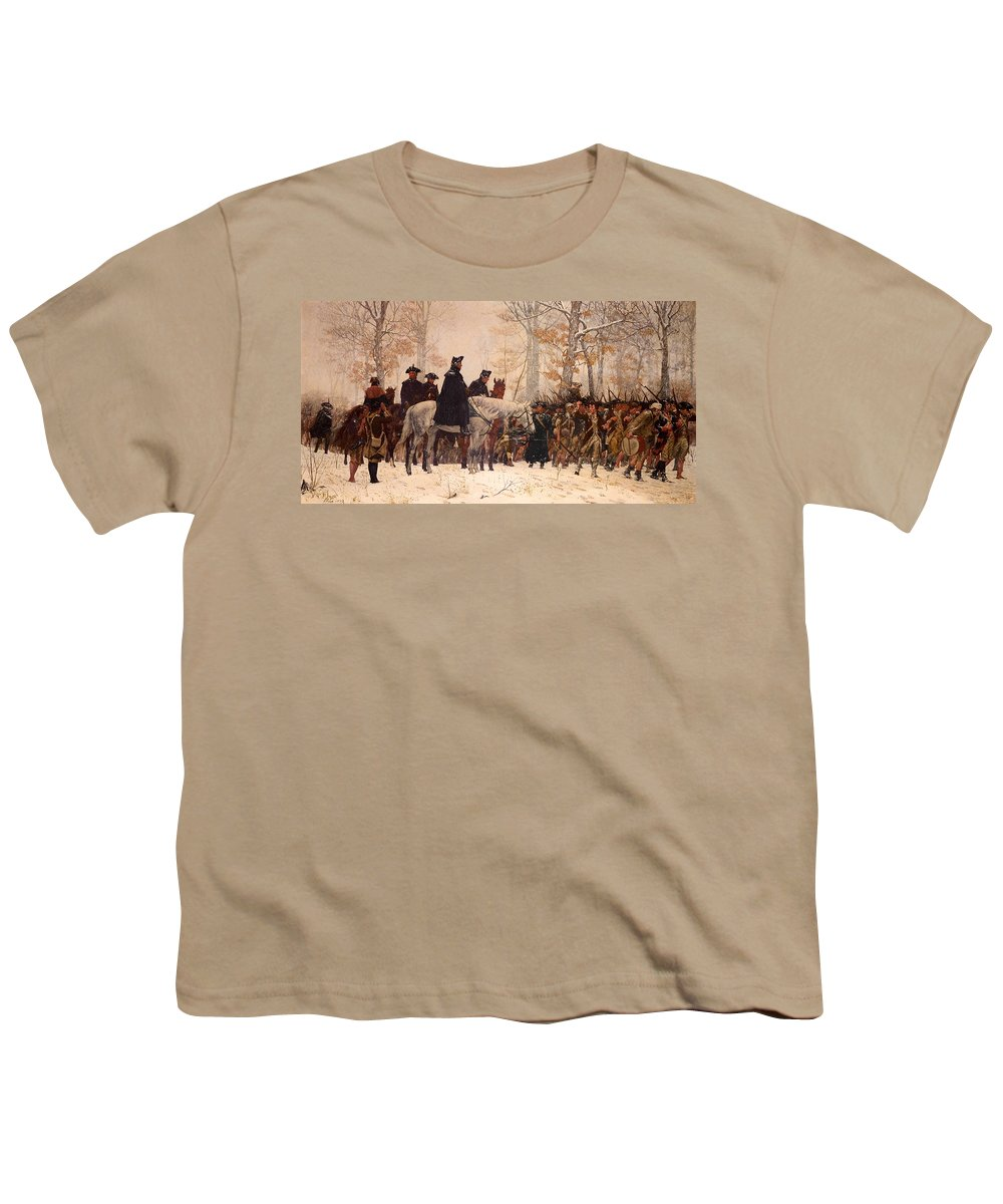 Painting Youth T-Shirt featuring the painting The March To Valley Forge by Mountain Dreams
