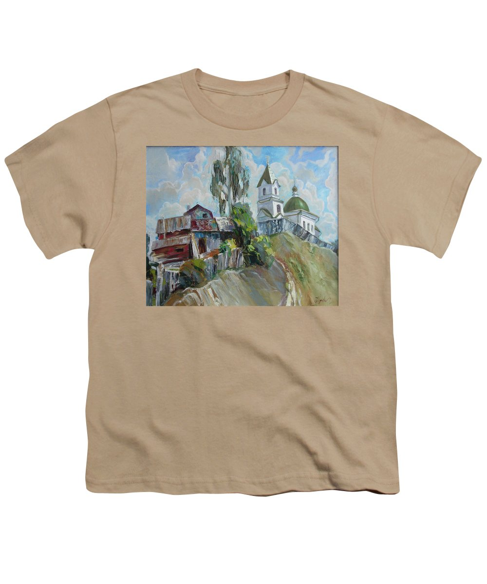 Oil Youth T-Shirt featuring the painting The Old And New by Sergey Ignatenko