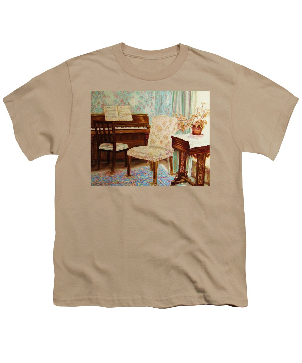 Iimpressionism Youth T-Shirt featuring the painting The Piano Room by Carole Spandau