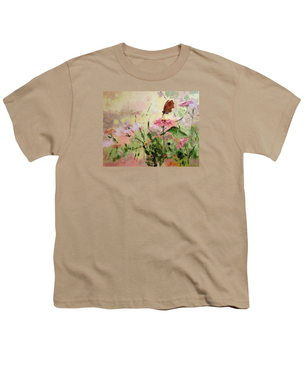 Butterflies Youth T-Shirt featuring the painting The Seeker by Ginger Concepcion