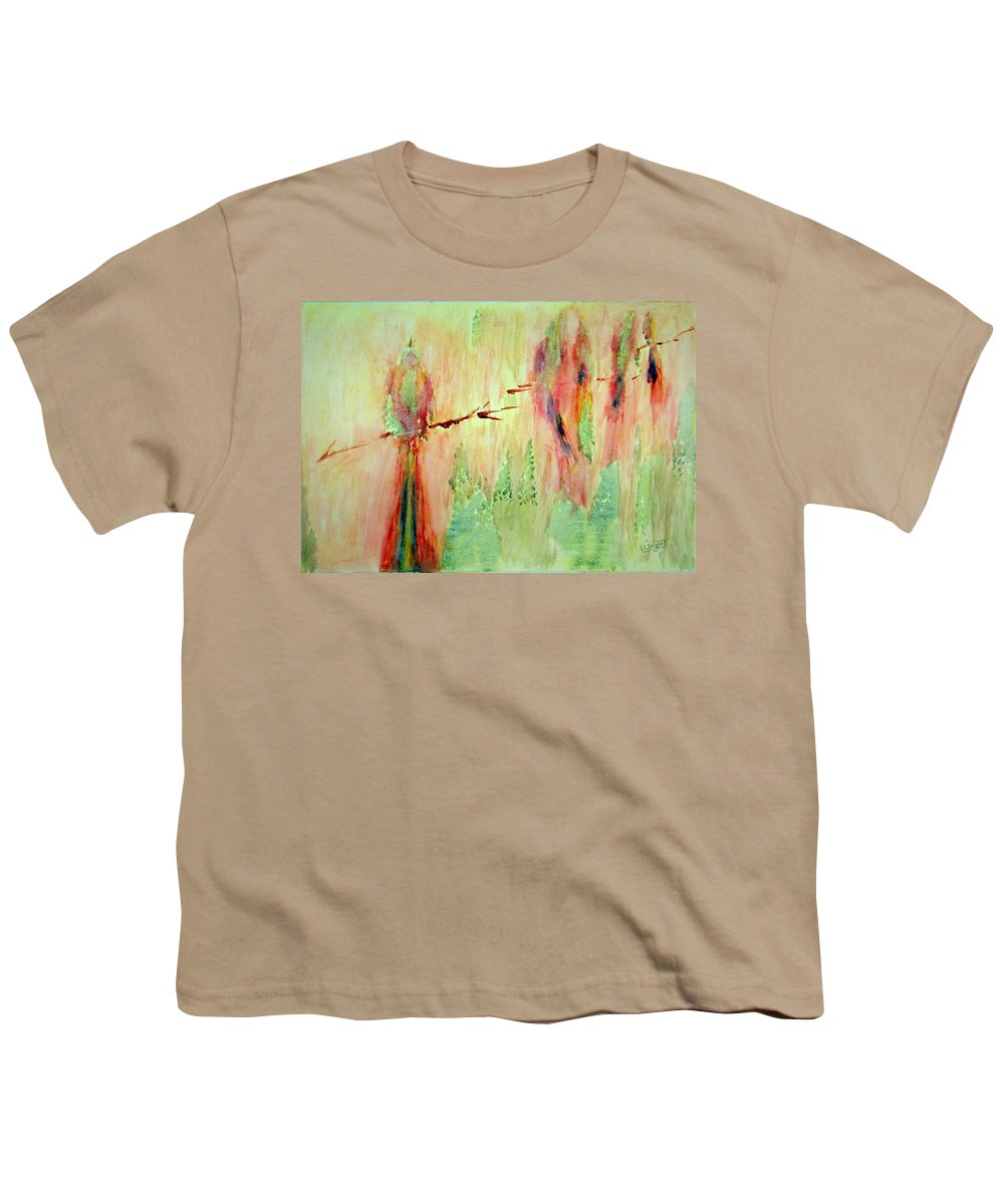 Abstract Art Youth T-Shirt featuring the painting This Must Be A Dream by Larry Wright