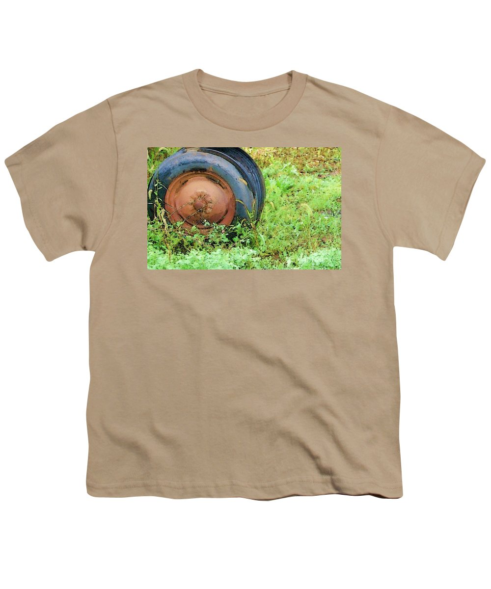 Tire Youth T-Shirt featuring the photograph Tired by Debbi Granruth