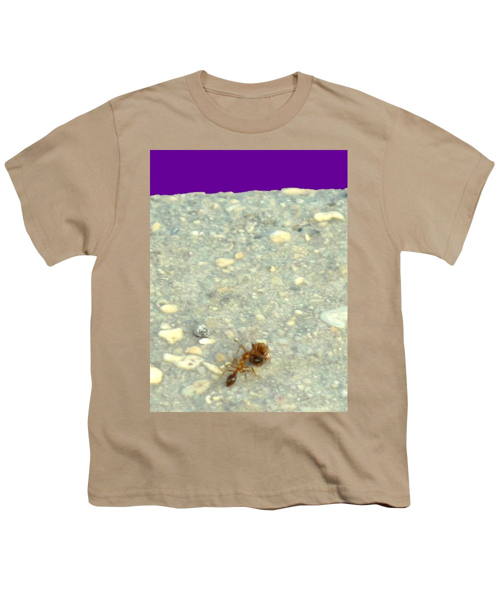 Ant Youth T-Shirt featuring the photograph To The Edge by Ian MacDonald