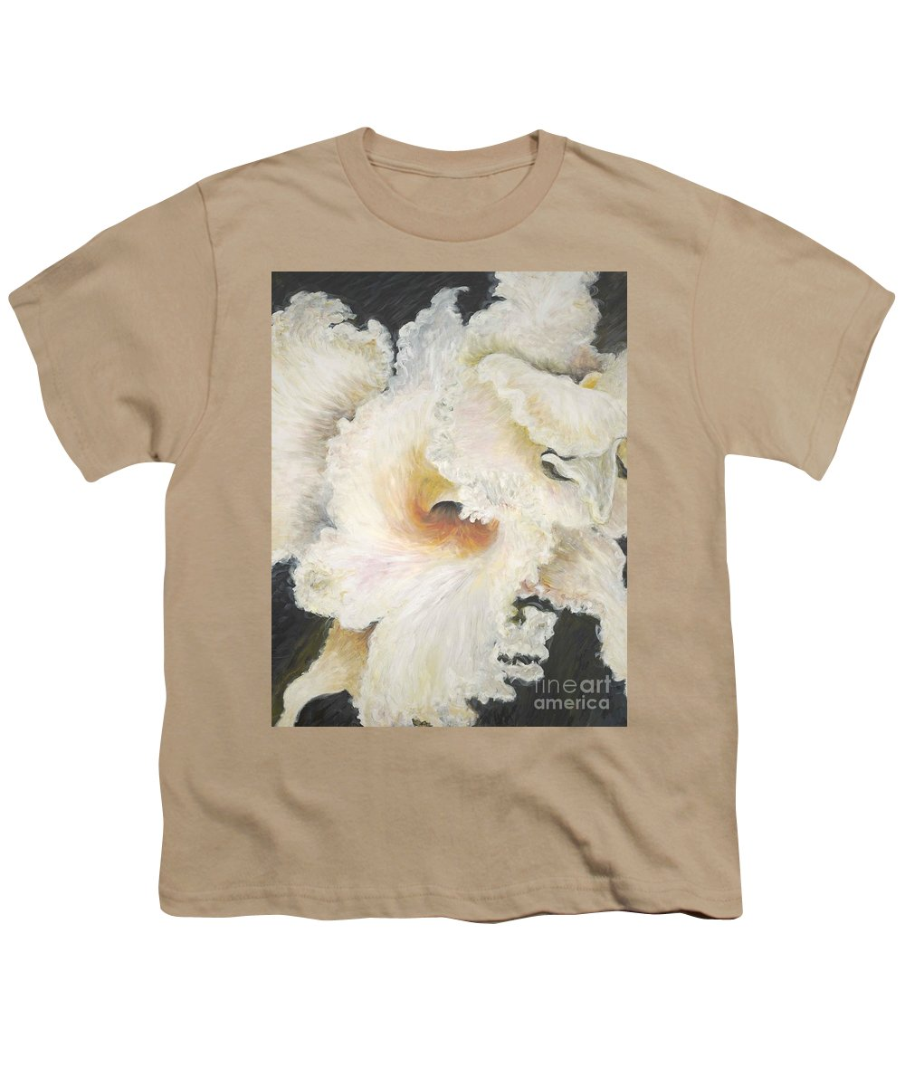 Flower Youth T-Shirt featuring the painting Tropical Flowers by Nadine Rippelmeyer