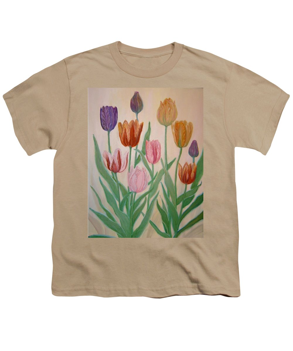 Flowers Of Spring Youth T-Shirt featuring the painting Tulips by Ben Kiger