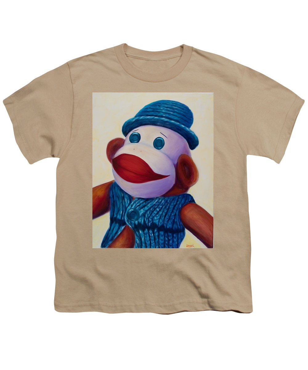 Children Youth T-Shirt featuring the painting Uncle Frank by Shannon Grissom