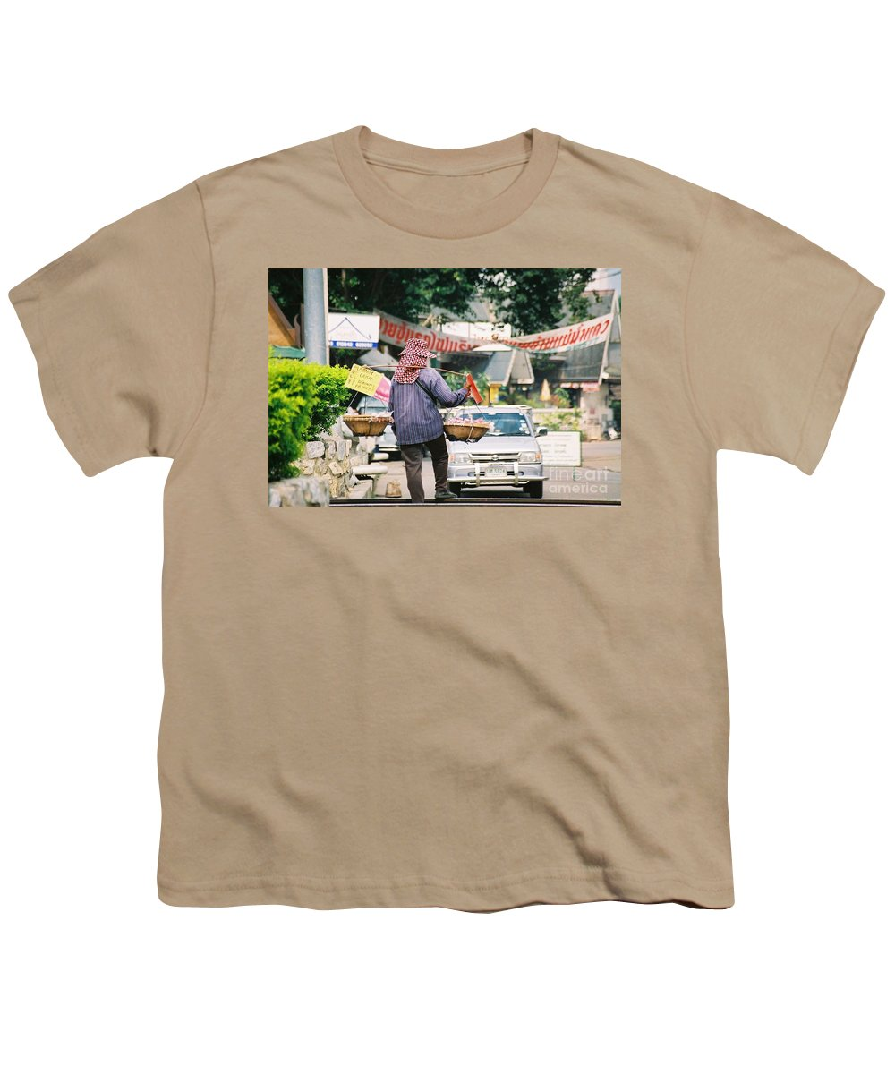 Sales Youth T-Shirt featuring the photograph Vendor by Mary Rogers