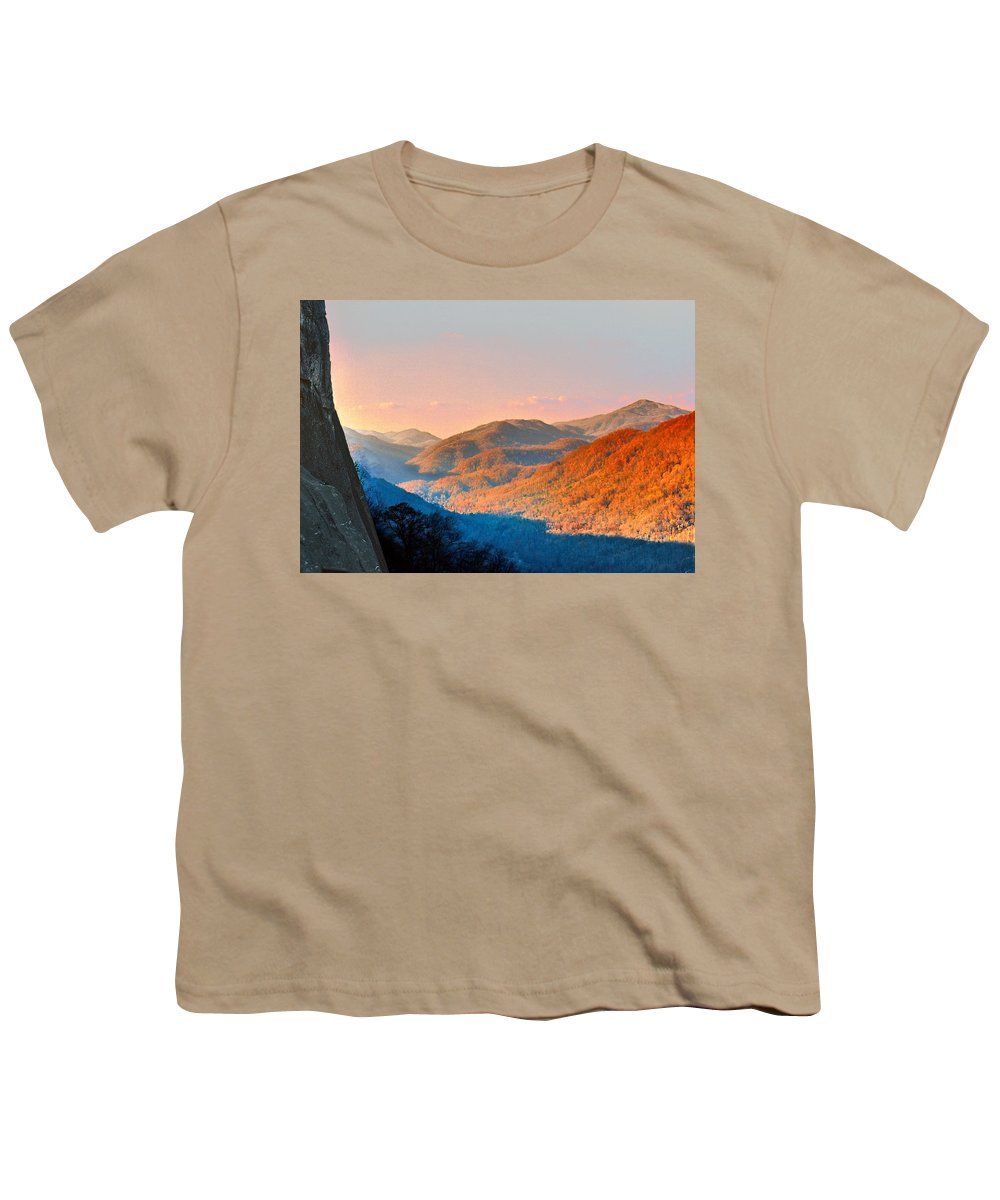 Landscape Youth T-Shirt featuring the photograph View From Chimney Rock-north Carolina by Steve Karol