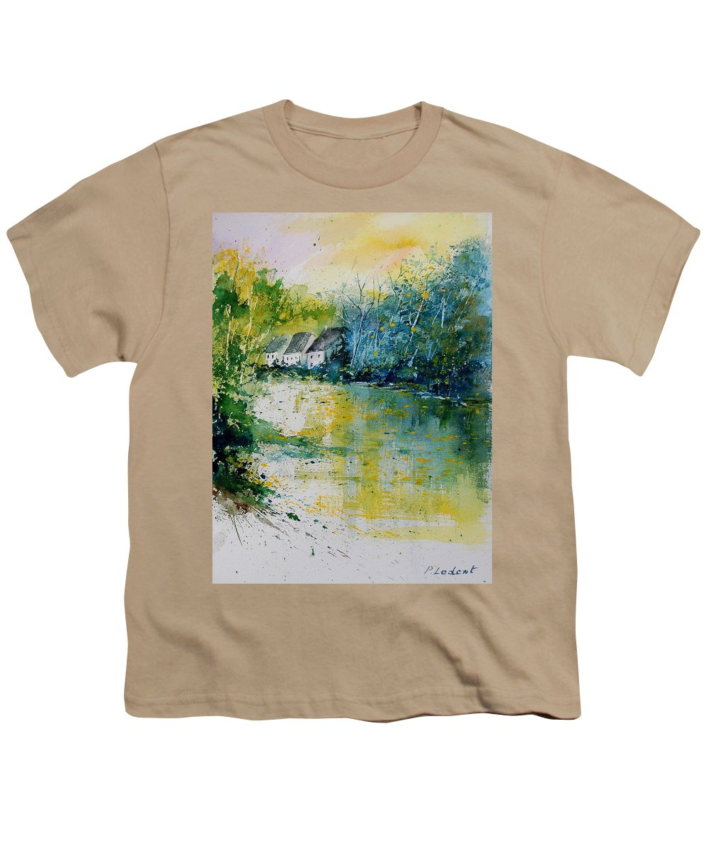 River Youth T-Shirt featuring the painting Watercolor 011108 by Pol Ledent