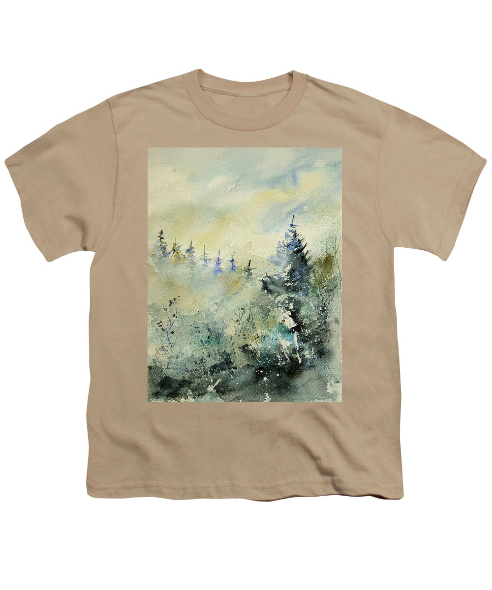 Winter Youth T-Shirt featuring the painting Watercolor 020307 by Pol Ledent