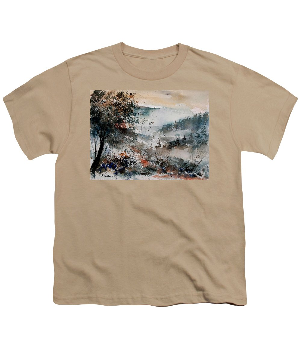 Winter Youth T-Shirt featuring the painting Watercolor 081108 by Pol Ledent