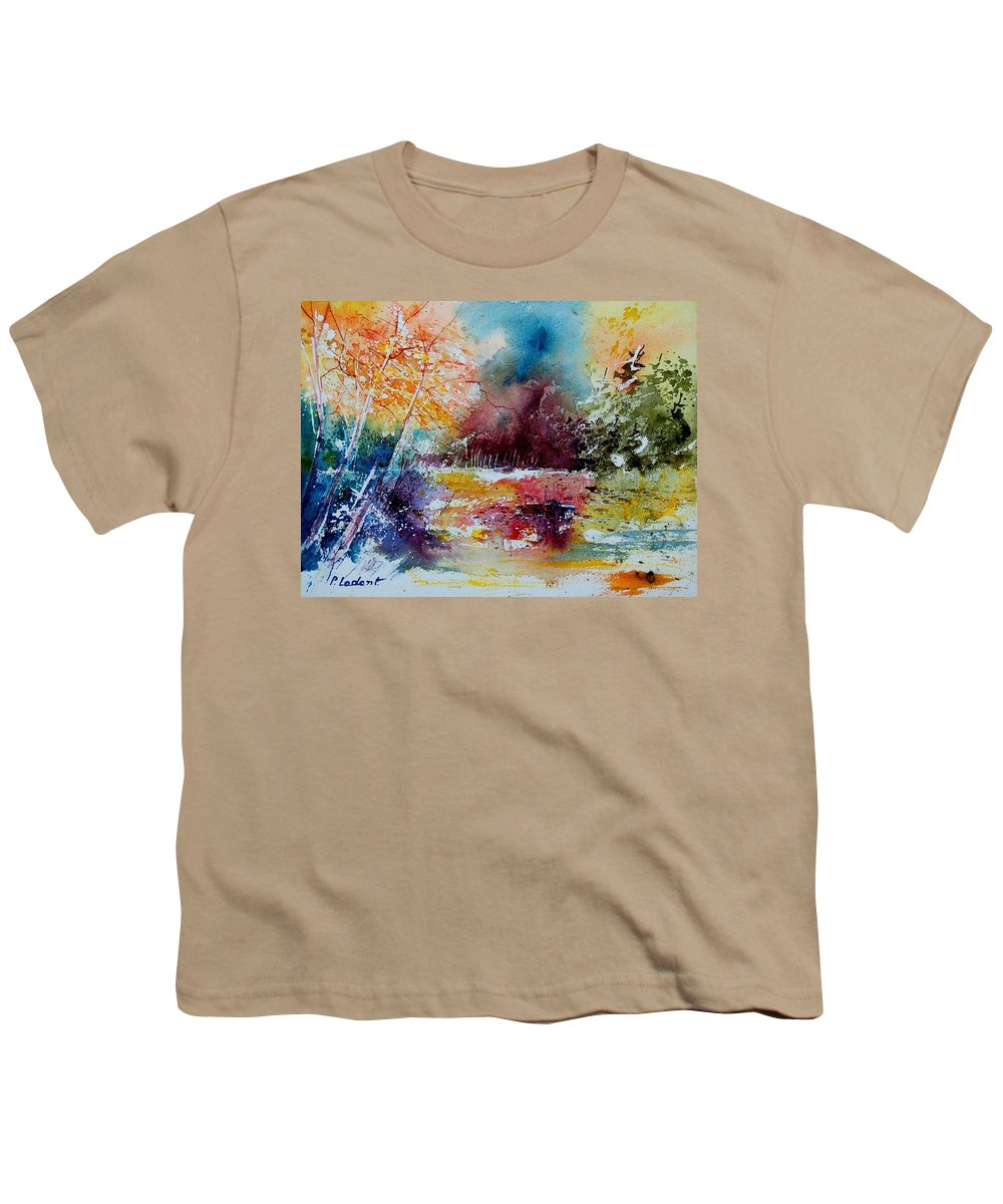 Pond Youth T-Shirt featuring the painting Watercolor 140908 by Pol Ledent