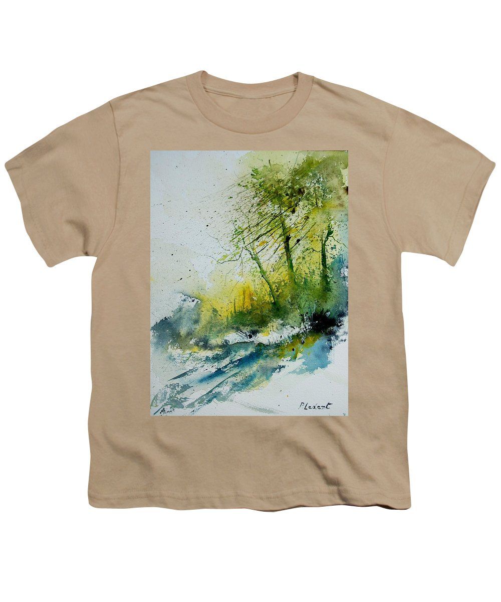 River Youth T-Shirt featuring the painting Watercolor 181207 by Pol Ledent