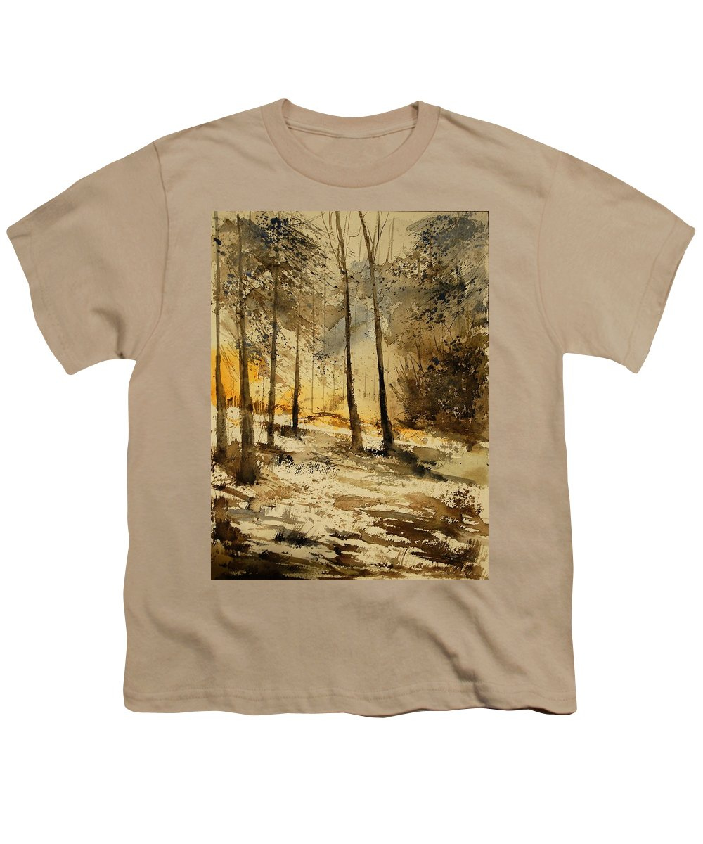 Tree Youth T-Shirt featuring the painting Watercolor 191106 by Pol Ledent