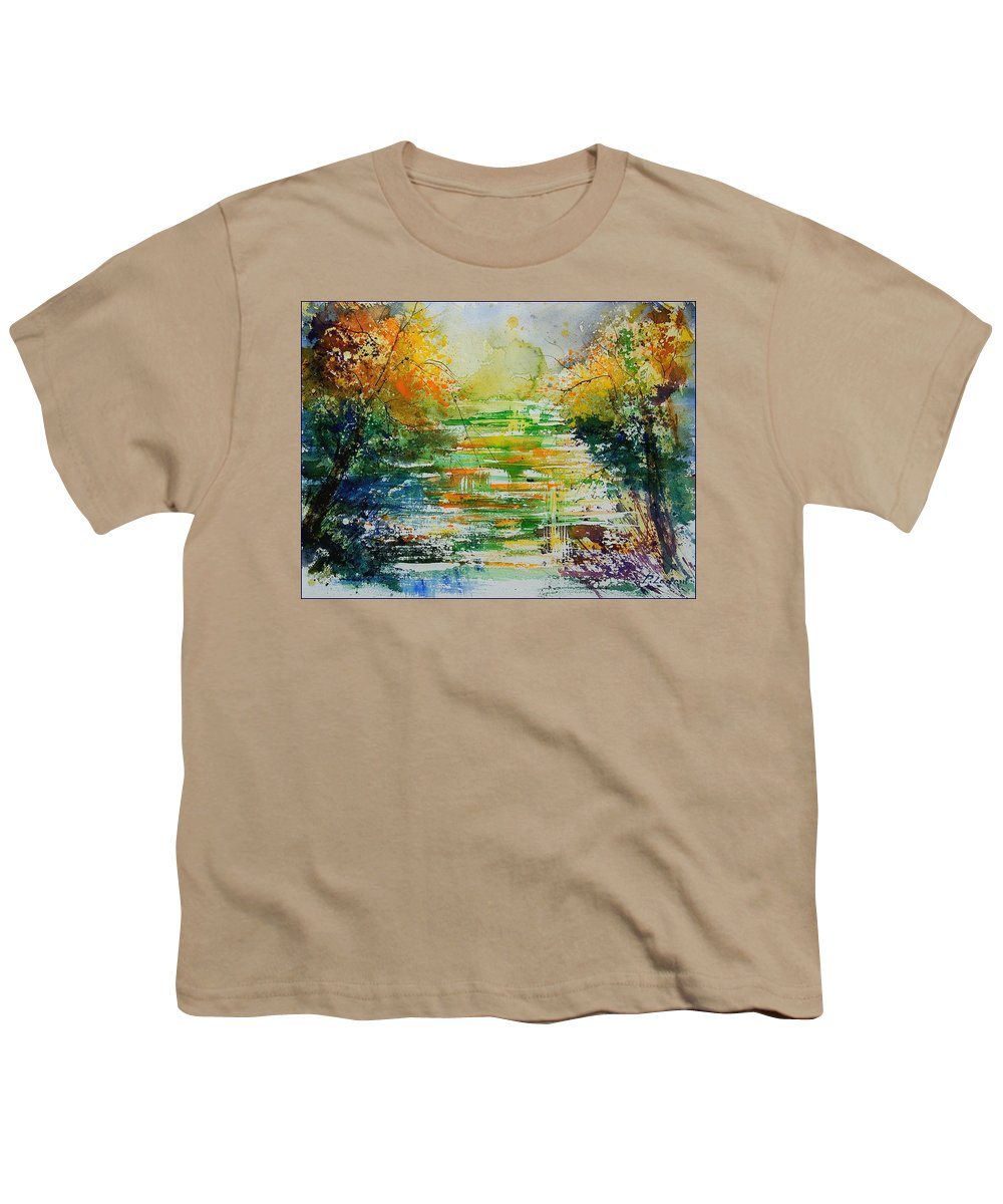 Water Youth T-Shirt featuring the painting Watercolor 230507 by Pol Ledent