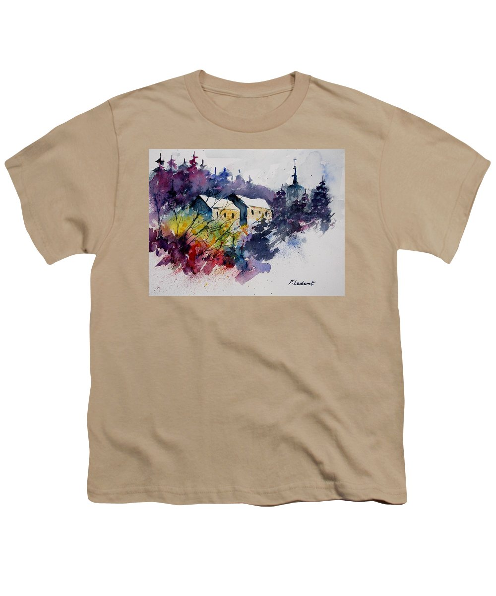 River Youth T-Shirt featuring the painting Watercolor 231207 by Pol Ledent