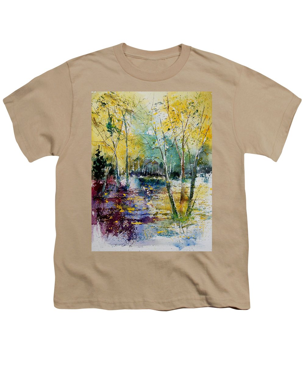 Pond Youth T-Shirt featuring the painting Watercolor 280809 by Pol Ledent