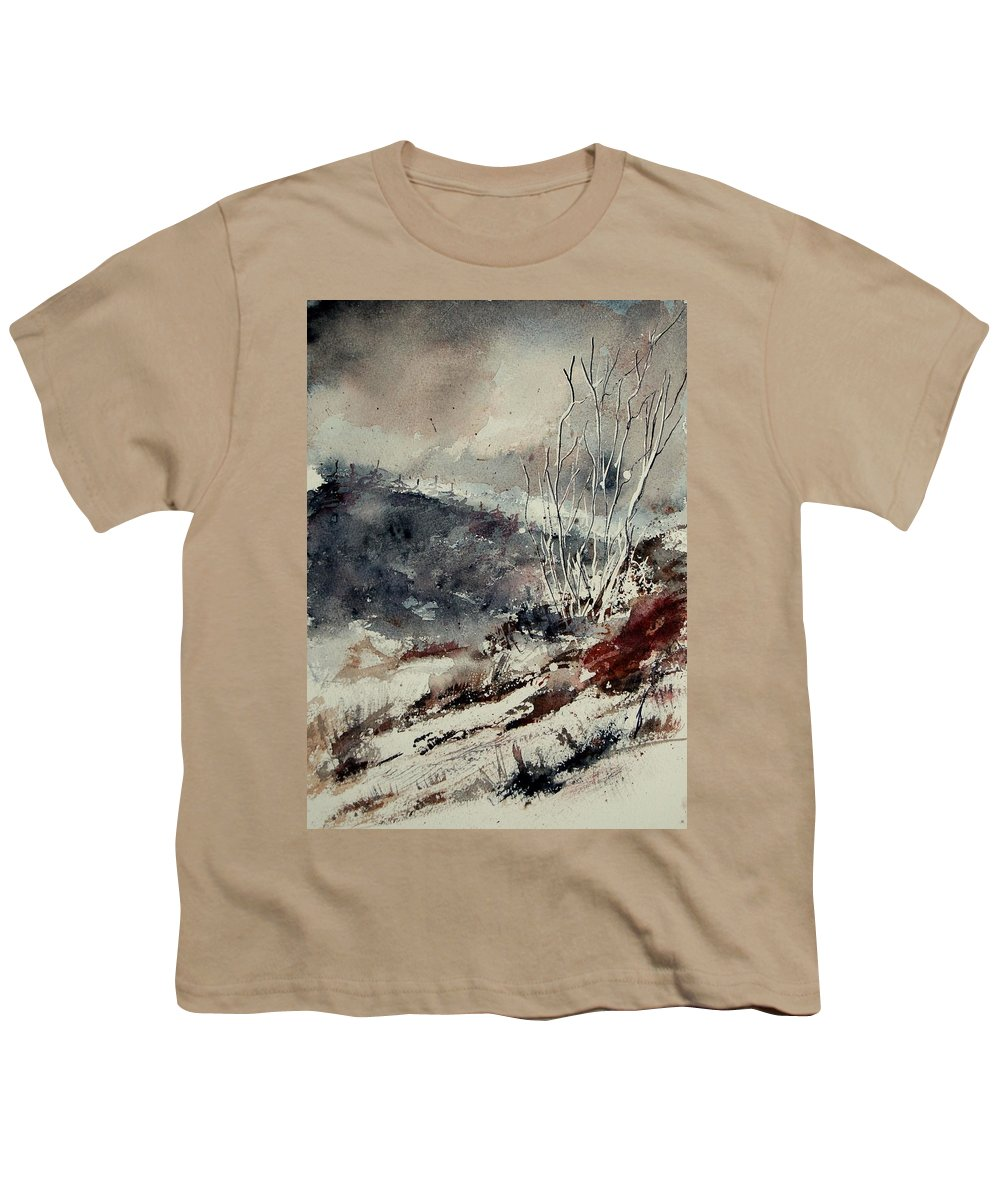 Snow Youth T-Shirt featuring the print Watercolor 446 by Pol Ledent