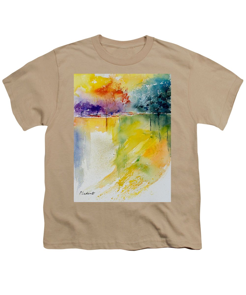 Pond Youth T-Shirt featuring the painting Watercolor 800142 by Pol Ledent