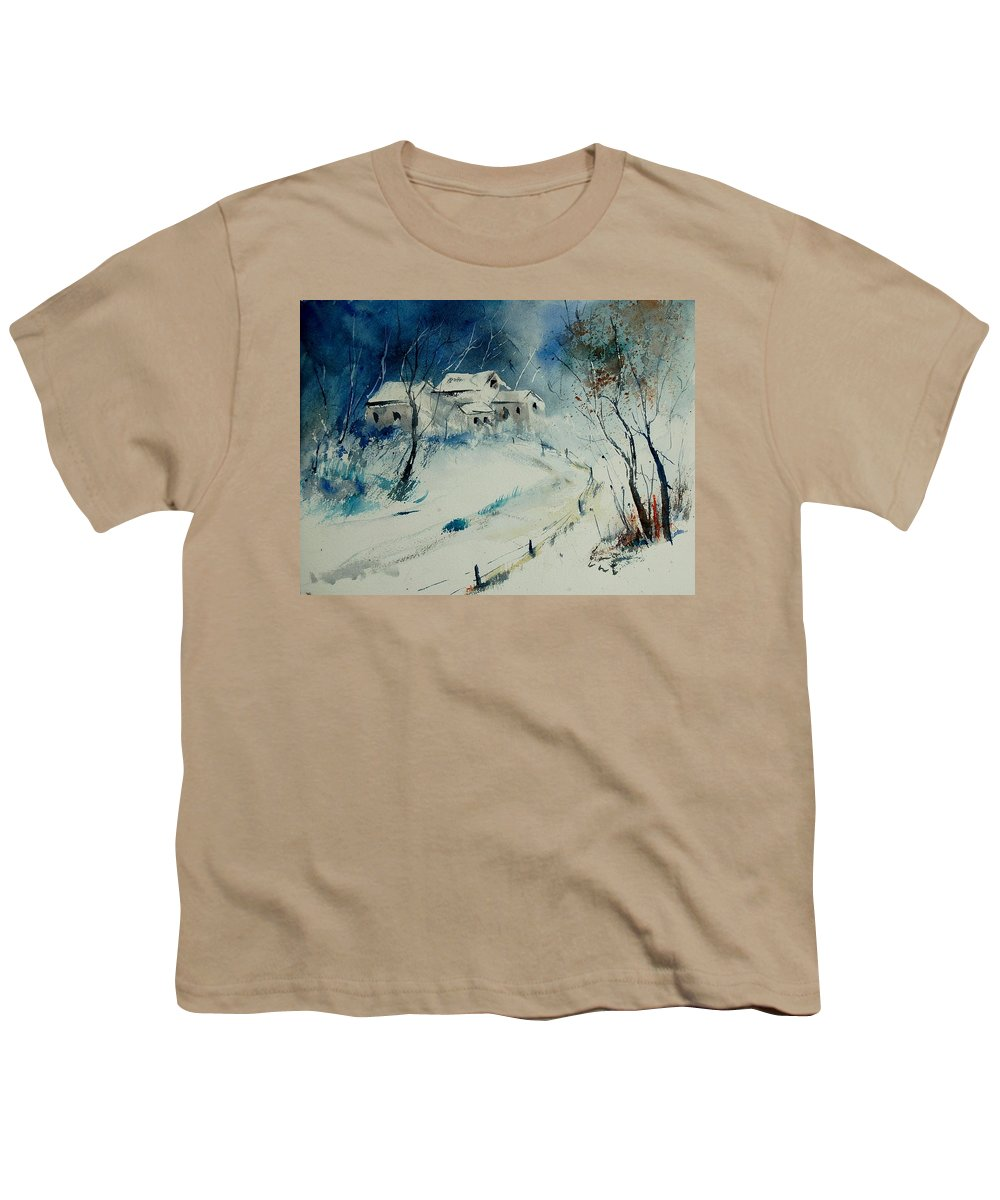Winter Youth T-Shirt featuring the painting Watercolor 905001 by Pol Ledent