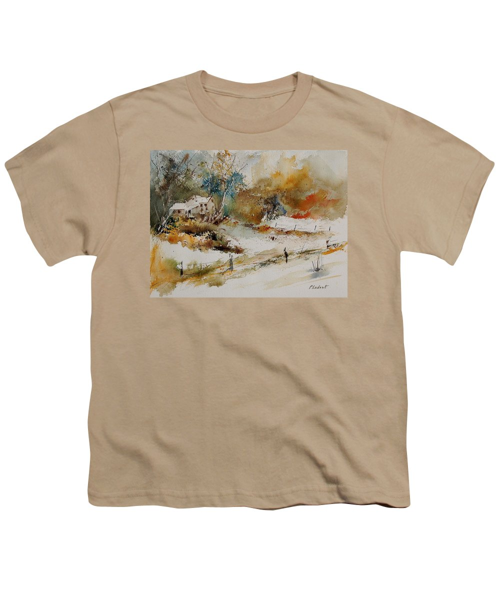 Tree Youth T-Shirt featuring the painting Watercolor 905061 by Pol Ledent