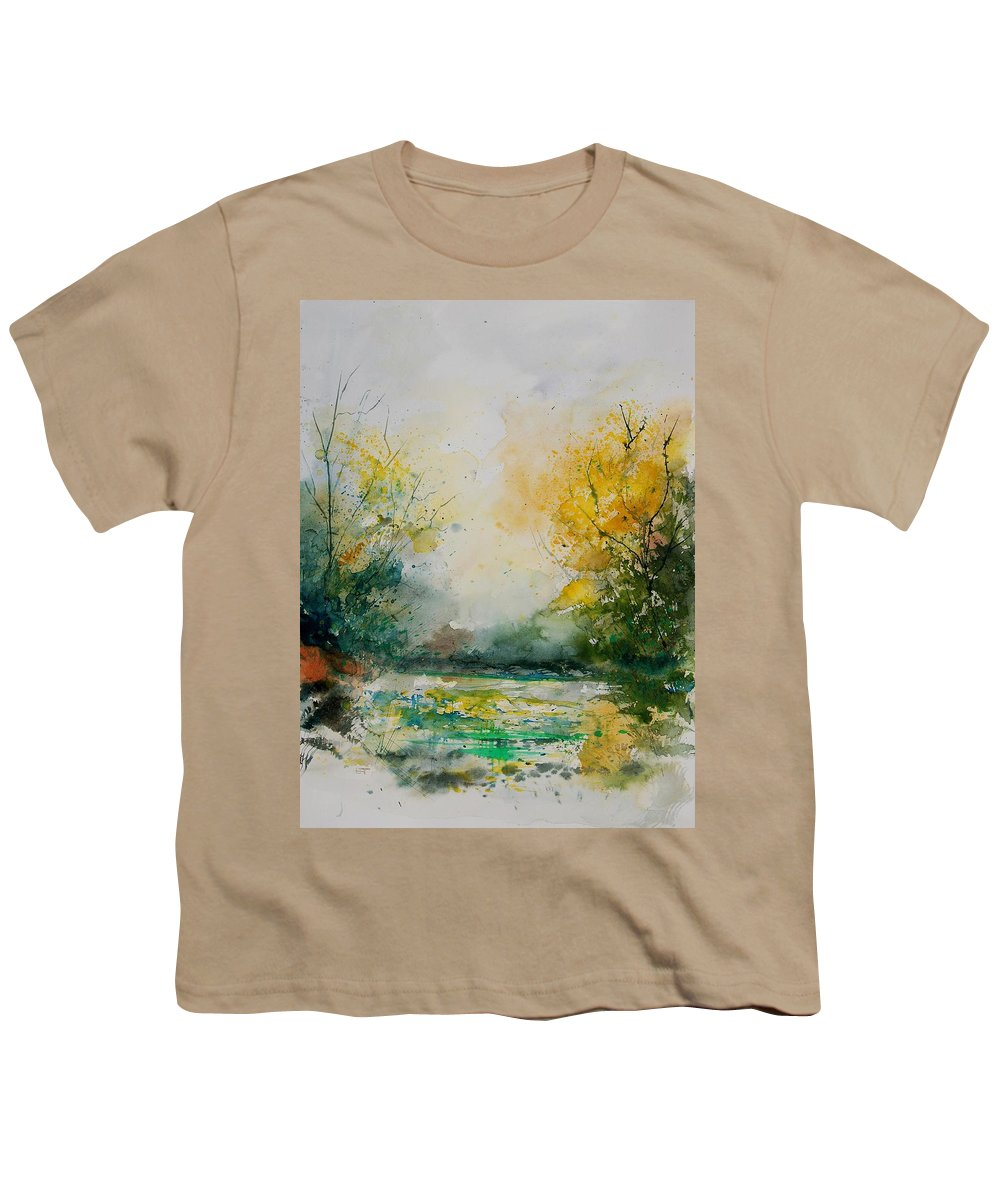 Water Youth T-Shirt featuring the painting Watercolor 905081 by Pol Ledent