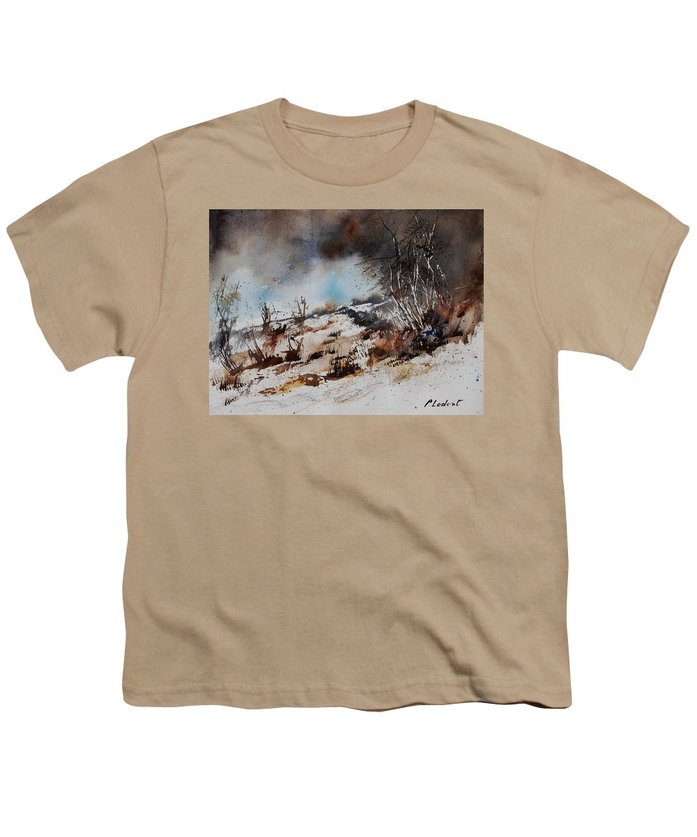 River Youth T-Shirt featuring the painting Watercolor Jjook by Pol Ledent
