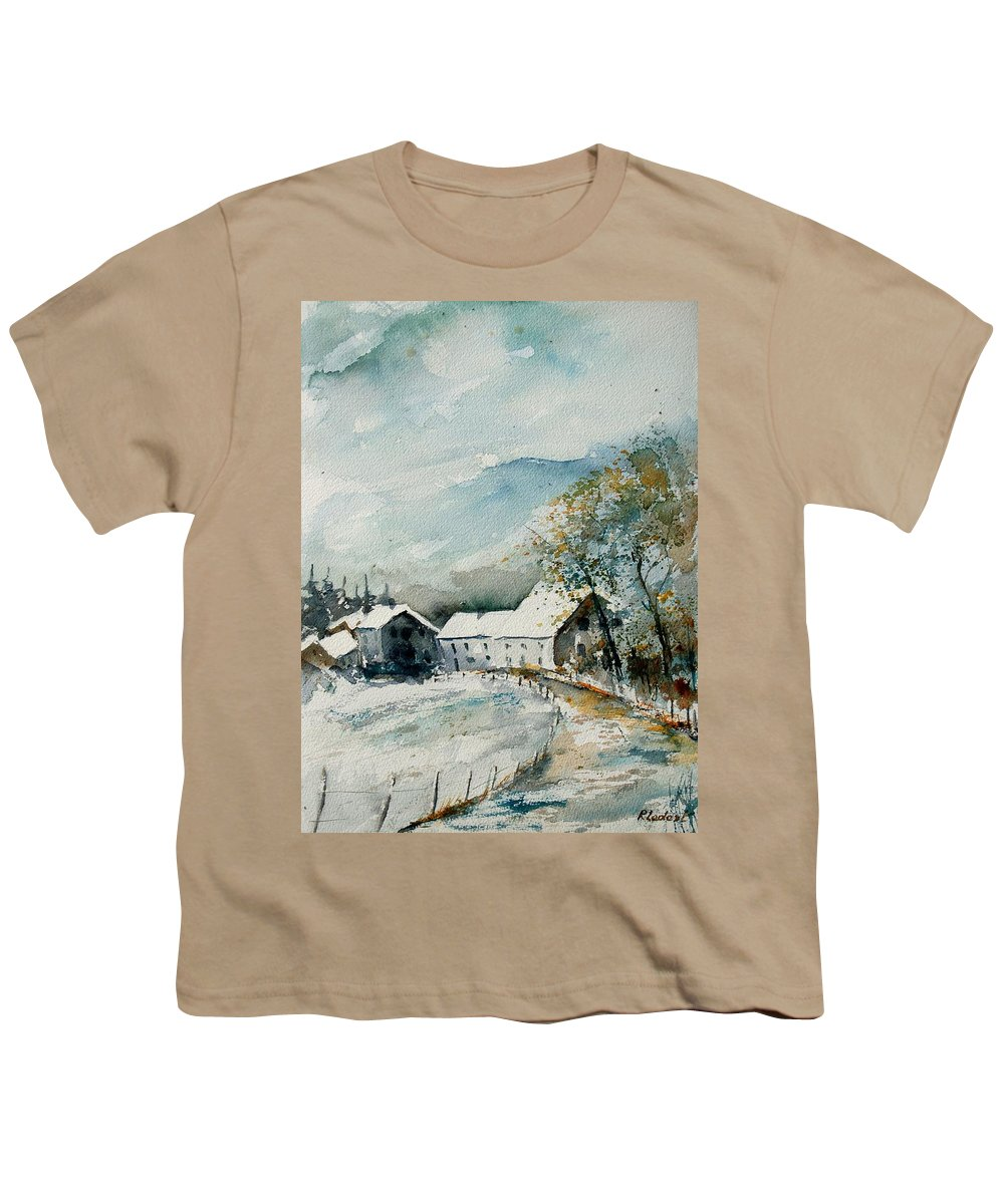 River Youth T-Shirt featuring the painting Watercolor Sechery 1207 by Pol Ledent