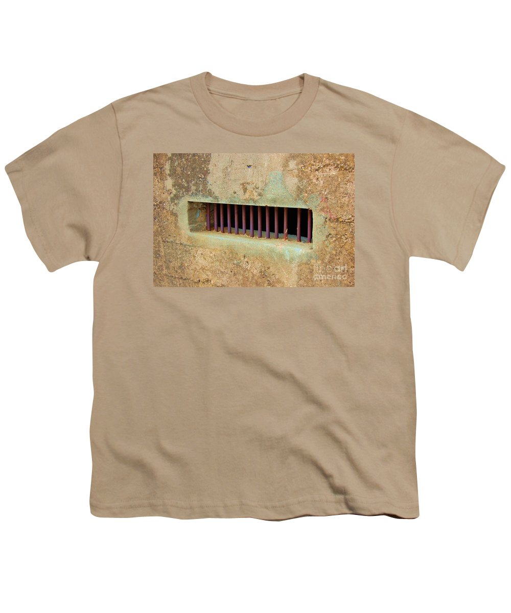Jail Youth T-Shirt featuring the photograph Window To The World by Debbi Granruth