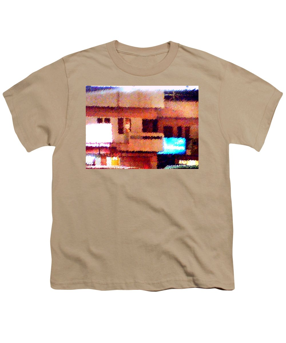 Digital Art Youth T-Shirt featuring the painting Windows by Anil Nene
