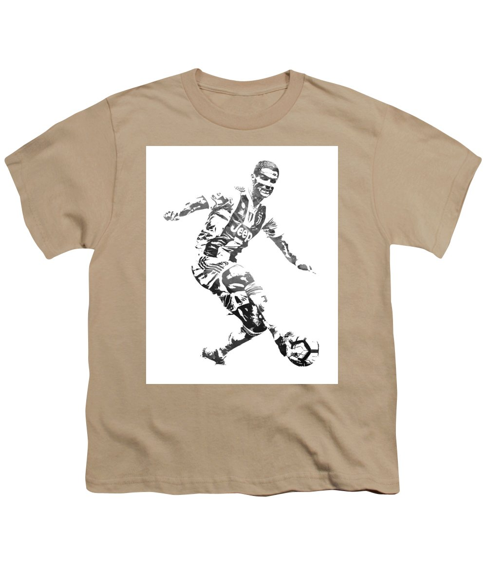 low priced 3b9b5 3e943 Cristiano Ronaldo Juventus Water Color Pixel Art 3 Youth T-Shirt