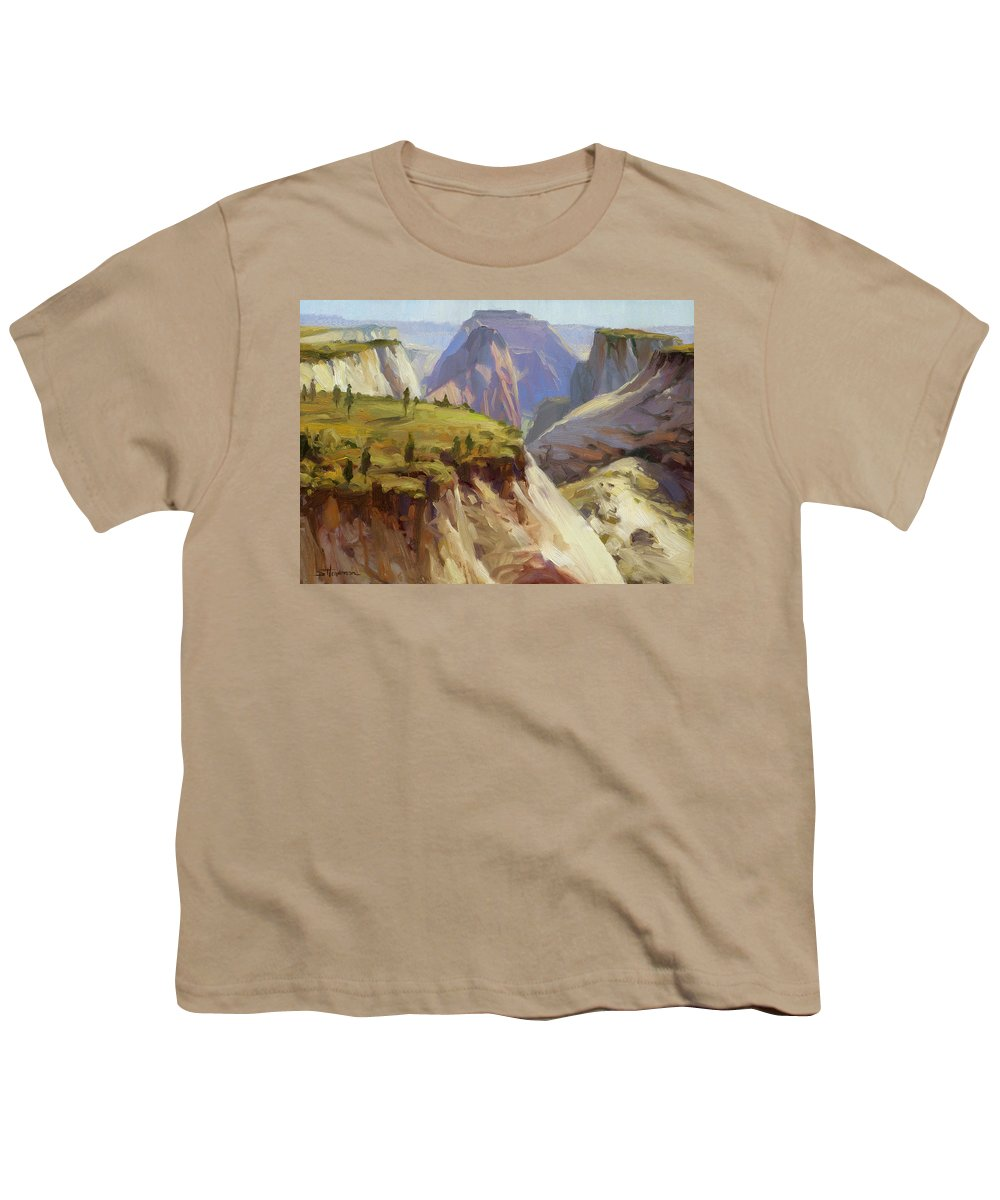 Zion Youth T-Shirt featuring the painting High On Zion by Steve Henderson