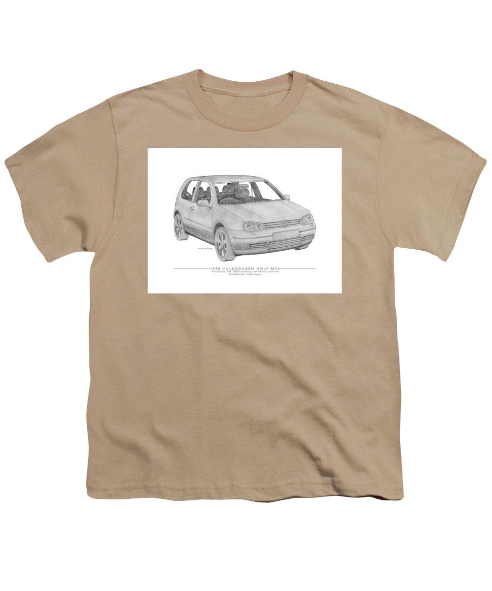 Volkswagen Golf Mk4 Saloon Youth T Shirt For Sale By Dermot Gallagher
