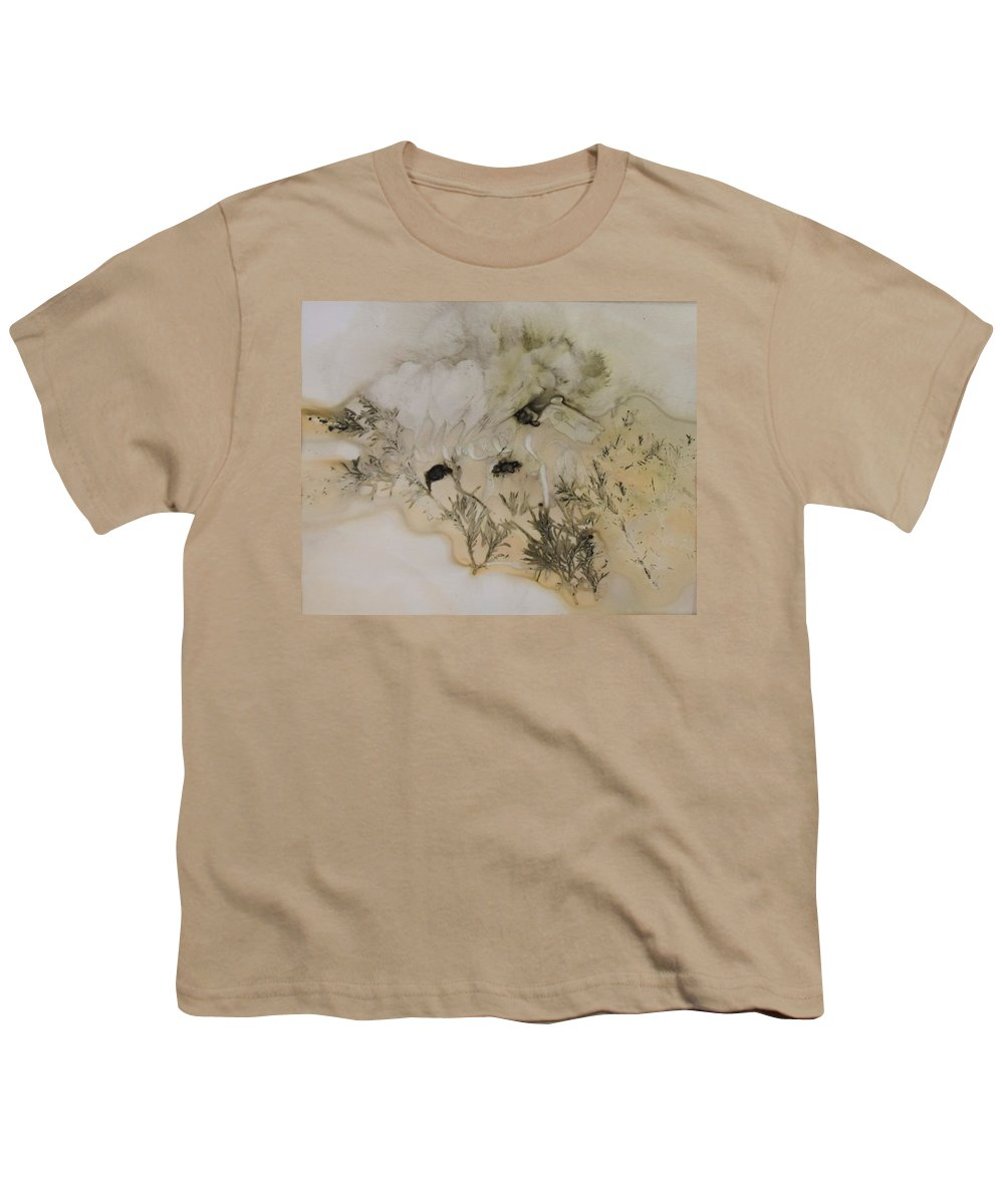 Nature Youth T-Shirt featuring the mixed media Eco print 5 by Charla Van Vlack